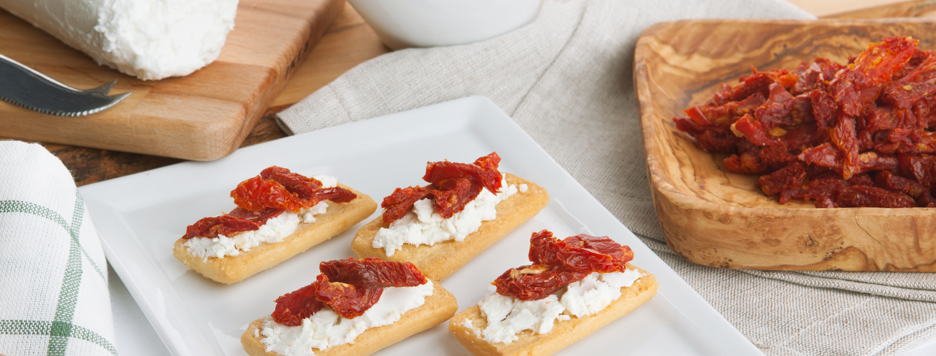 Goat cheese and sun dried tomato explosion asturi - Make sun dried tomatoes explosion flavor ...